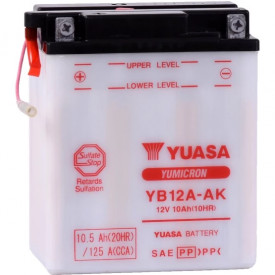 Baterie moto Yuasa YuMicron 12V 10Ah, 165A YB12A-AK (DC)