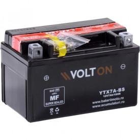 Baterie moto Volton AGM 12V 6Ah, 90A (YTX7A-BS)