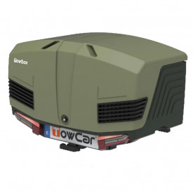 Cutie portbagaj pe carligul de remorcare Towbox V3 Camper Verde