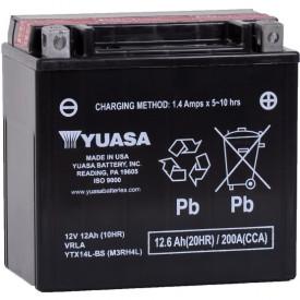 Baterie moto Yuasa AGM 12V 12Ah, 200A YTX14L-BS (CP)