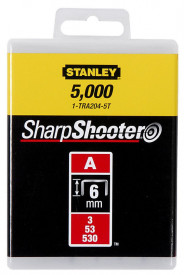 """Stanley 1-TRA202T Capse standard 4 mm / 5/32"""" 1000 buc. tip a 5/53/530"""