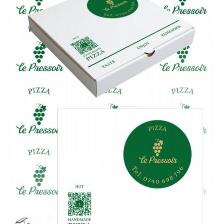 Cutii pizza personalizate
