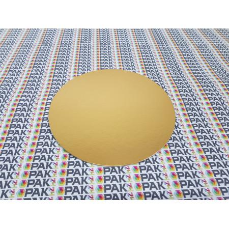 Disc carton auriu/argintiu 22 cm