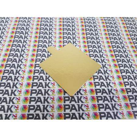 Suport carton prajituri  8x8 cm auriu/argintiu