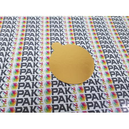 Disc carton 8 cm auriu/argintiu