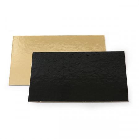 Platou carton auriu/negru  34x44 cm