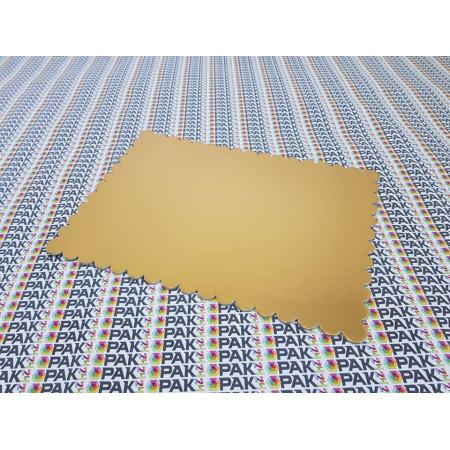 Platou carton auriu/negru  25x34 cm