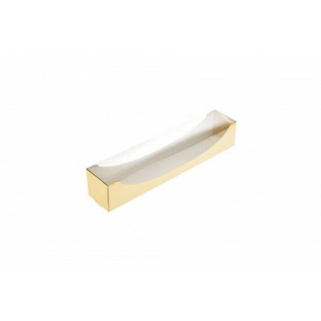 Cutie carton auriu macarons 14x5x5 cm