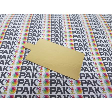 Suport carton prajituri 6x10 cm auriu/argintiu