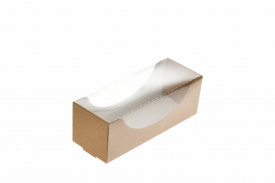Cutie carton natur macarons 14x5x5 cm