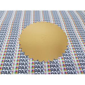 Disc carton 22 cm auriu/argintiu
