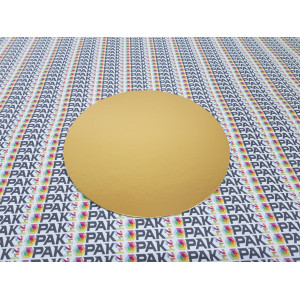 Disc carton auriu 28 cm
