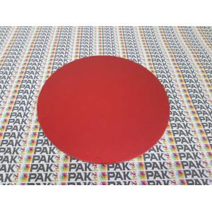 Disc carton rosu/negru 34 cm