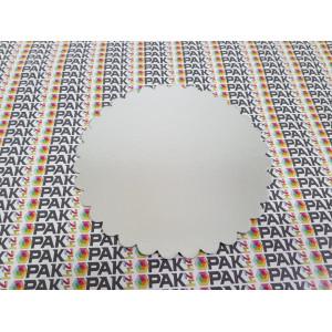 Disc carton 20 cm auriu/argintiu