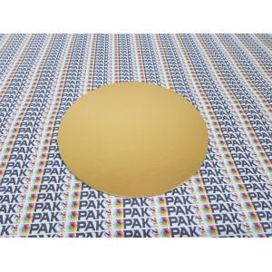 Disc carton 18 cm auriu/negru