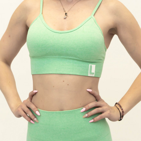 Bustiera fitness, Spring Green (Glow Edition)