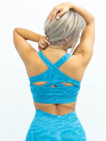 bustiera albastra, fitness
