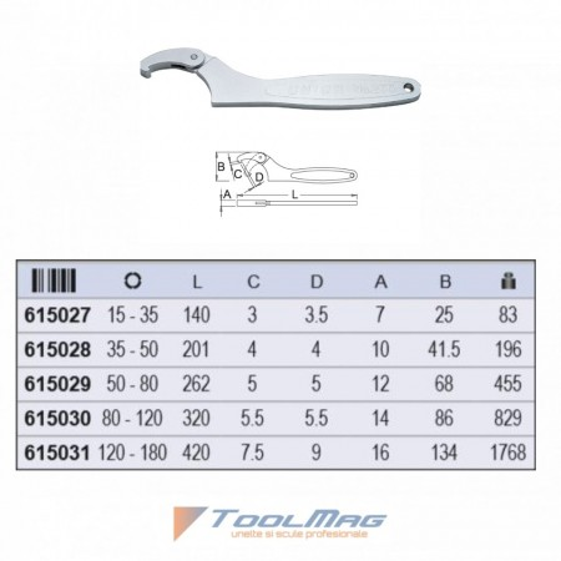 Chei cu gheara flexibila 255/2F