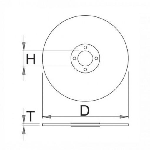 Disc abraziv subtire pentru debitare otel - 1210