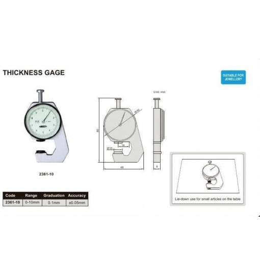 Dispozitiv cu ceas comparator pentru masurat grosimi 2361-10