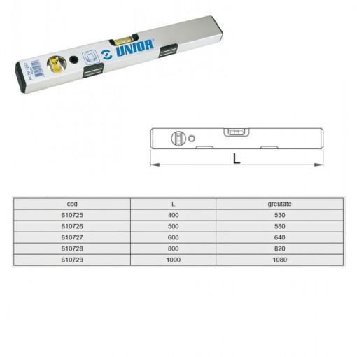 Nivele de aluminiu cu bula de aer si cu magnet - 1252