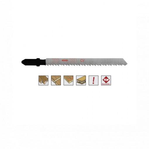 Set 5 panze pentru fierastrau pendular, dantura rectificata, HCS - 8018 - RUKO