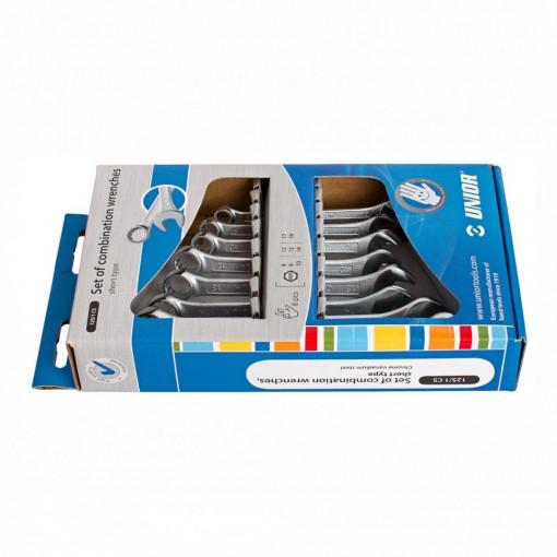 Set de chei combinate scurte in cutie de carton - 125/1CS