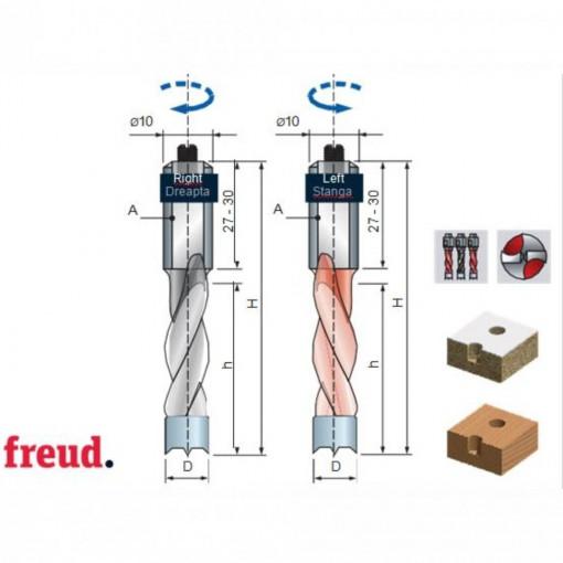 Burghiu placat CMS pentru gauri infundate - PF06MD - PF06MS - FREUD Italia