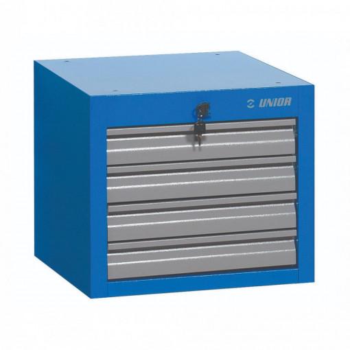 Dulap scule ingust cu montare sub blat - 4 sertare - 990NDH4 - UNIOR