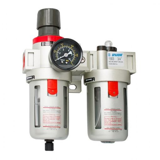 "Filtru regulator si gresor pneumatic 3/4"" - 1503 - Unior"
