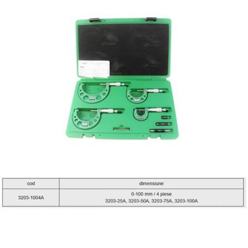 Set micrometre mecanice de exterior 0-100 mm / 4 piese - 3203-1004A - Insize 2
