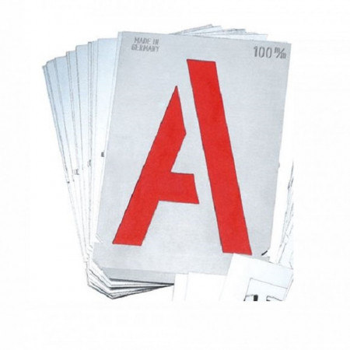 Set sabloane litere mari A-Z - 7000B -GravuremHeidenpeter