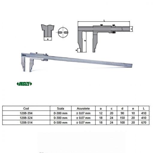 Subler mecanic de exterior-interior cu reglaj fin - 1208 - Insize detalii