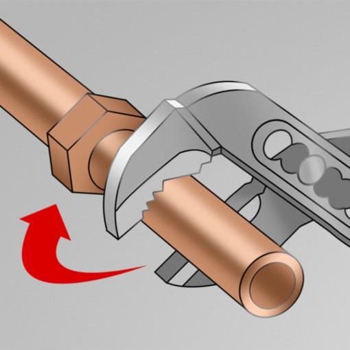 Cleste reglabil cu falci intrepatrunse pentru instalatori - 447/1BI