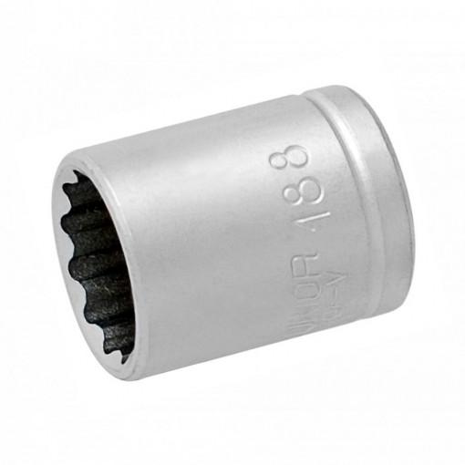 """Set capete chei tubulare si accesorii 1/4"""" in cutie metalica - 188BI12P16"""