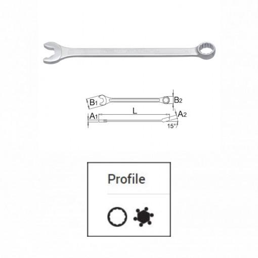Set de chei combinate IBEX in cutie de carton - 129/1CS
