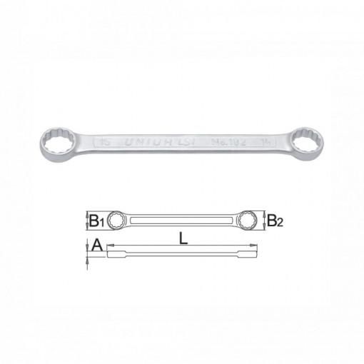 Chei inelare duble drepte cu capete drepte - 182/2A
