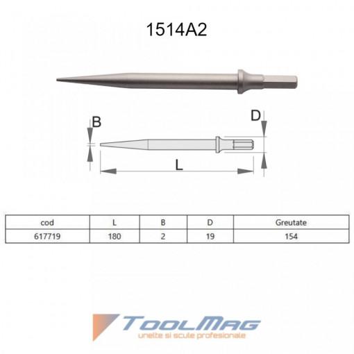 Dalta ascutita pentru pistolul pneumatic percutor- 1514A2