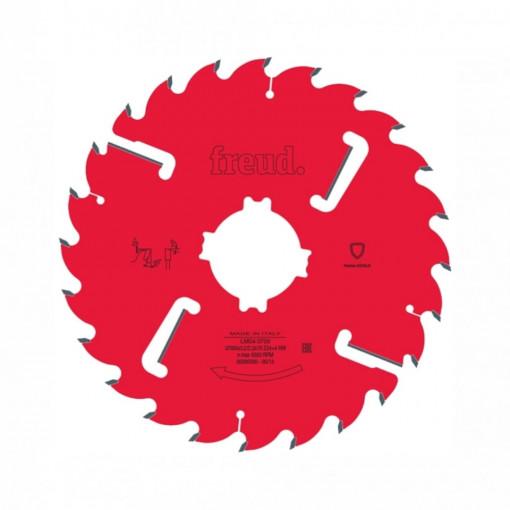 Panza circulara placata CMS cu dinti geluitori pentru taieri multiple in lung pe fibra lemnului - LM04 - FREUD