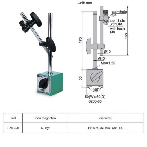 Suport magnetic pentru ceas comparator 6200