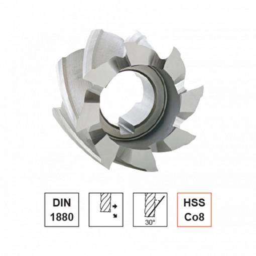 Freze cilindrice, HSS Co8, Tip N, DIN 1880 - FORMAT