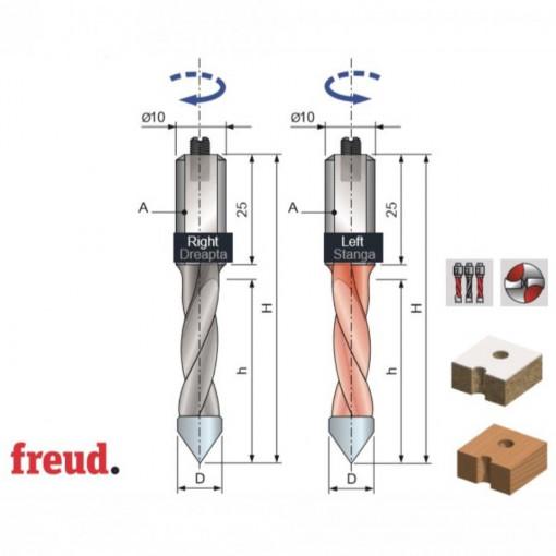 Burghiu placat CMS pentru gauri strapunse - PF10MD - PF10MS - FREUD Italia