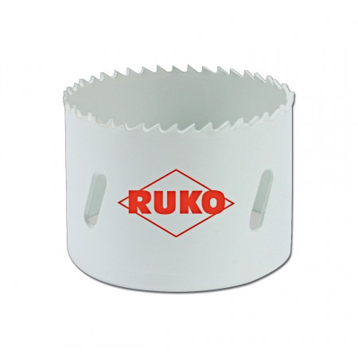 Clopot de gaurire (carota) HSSE Co8 cu dantura fina - RUKO