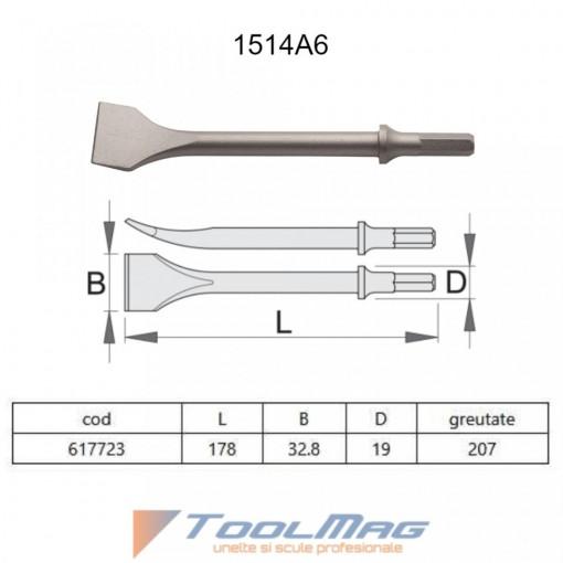 Dalta cu varf sapa pentru pistolul pneumatic percutor - 1514A6