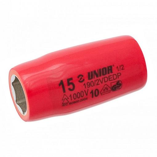 """Set capete chei tubulare 1/2"""" izolate la 1000 V in cutie de plastic - 190VDE6P10"""