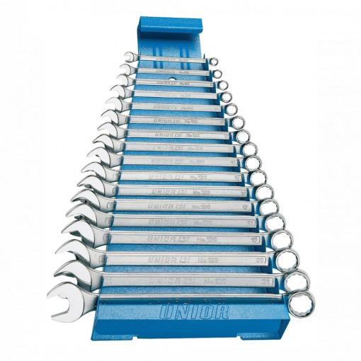 Set de chei combinate lungi cu suport metalic - 120/1MS