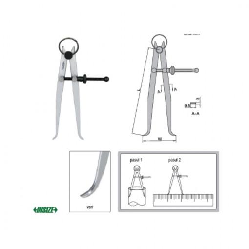 Compas mecanic de interior 7261