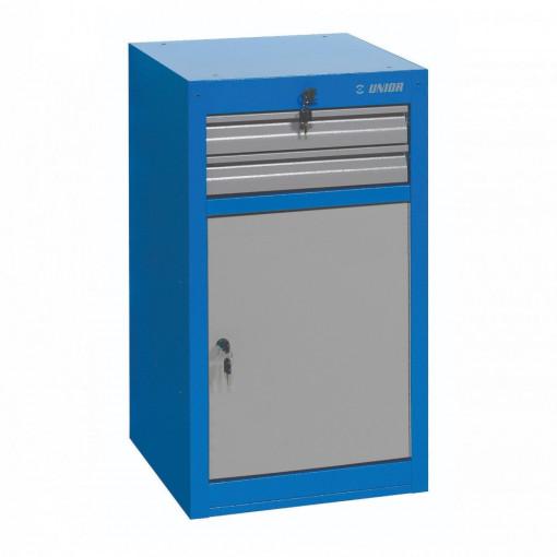 Dulap ingust pentru scule - 2 sertare si usa - 990NDD2 - Unior