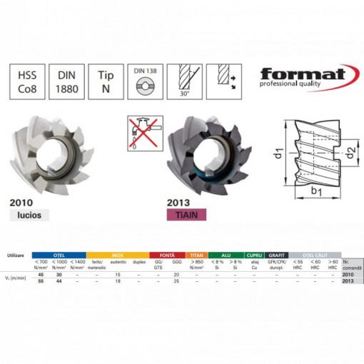 Freze cilindrice, HSS Co8, Tip N, DIN 1880 - FORMAT 3