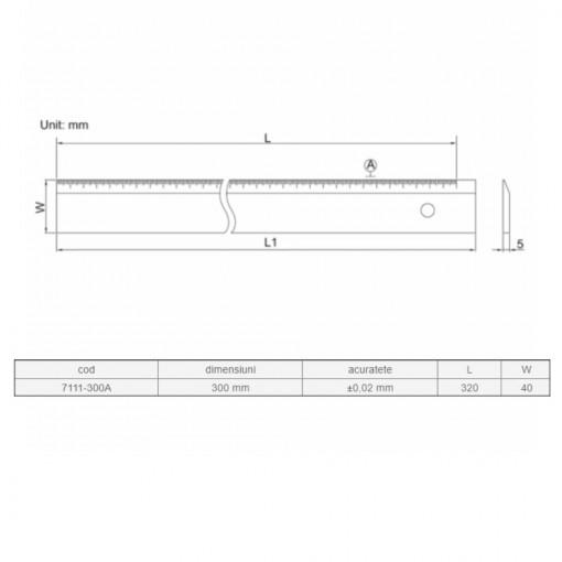 Rigla dreapta 300 mm - 7111
